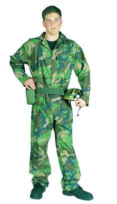 CAMOUFLAGE COMMANDO ADULT COSTUME   #patrioticcostumes #patriotic Patriotic Costumes, Adult Costumes, Camouflage, Helmet, Winter Jackets, Jumpsuit, Fashion, Winter Coats, Overalls