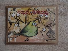 Glückwunschkarte A6: Crazy Bird Frame, Home Decor, Stamping, Homemade, Cards, Picture Frame, Decoration Home, Room Decor, Frames