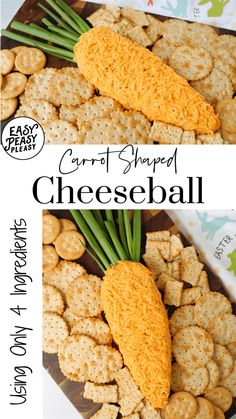 This 4 Ingredient Carrot Shaped Cheeseball makes the perfect snack or appetizer. Easter Appetizers, Good Food, Yummy Food, Cheese Ball Recipes, Easy Delicious Recipes, Lunch Snacks, Easter Treats, Spring Recipes, Original Recipe