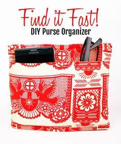 """""""Find it Fast!"""" DIY Purse Organizer"""