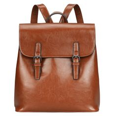 S-ZONE Women Leather Backpack Retro Chic Preppy Commuter Bag Daypack >>> Special product just for you. See it now!(This is an affiliate link and I receive a commission for the sales) : Travel Backpack Commuter Bag, Leather Backpack Purse, Vintage Backpacks, Luggage Store, Retro Chic, Casual Bags, Travel Backpack, Cow Leather, Totes