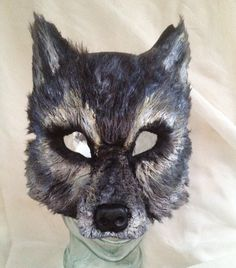 Big Bad Gray Wolf Mask by FemaleArtCollective on Etsy