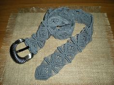 Macramé belt grey women accessories casual by AngelaMacrame, €100.00