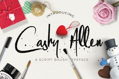 Cashy Allen Typeface example image
