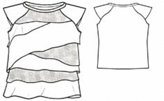example - #7117 Tiered Front T-Shirt