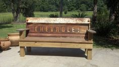 Vintage Tailgate Benches with instructions