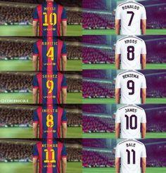 La bande à Cristiano Ronaldo vs la Bande à Messi (photo) - http://www.actusports.fr/113519/bande-cristiano-ronaldo-vs-bande-messi-photo/