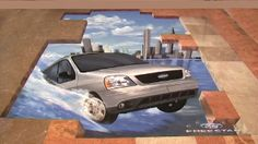 Street Painting by Master Madonnaro Manfred Stader. Wonderful illusions done in chalk or other media. Amazing street art for your project. 3d Street Art, 3d Street Painting, Amazing Street Art, Amazing Art, Awesome, Illusion Kunst, Illusion Art, Seen Graffiti, Graffiti Art
