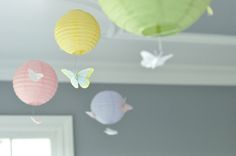 Pastel butterfly birthday decor