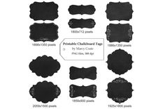 Printable Chalkboard Tags By Marcy Coate