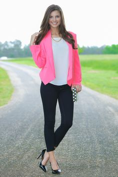 Give It All We Got Blazer-Hot Pink - New Arrivals | The Red Dress Boutique