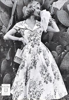 Retro Floral Dress (50s Fashion) by wearitsatvintage, via Flickr