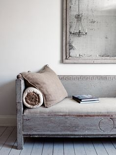 Simple and serene - antique settee