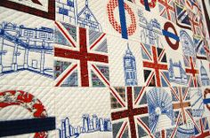 Union Jack quilt.  @Katie Willis, think I could talk my mom into making this for me?