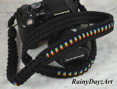NikonCanonOlympus Strap DSLR Strap Paracord Straps Handmade DSLR Paracord Wrist Camera Strap with Skull Bead Custom Made Camera Strap