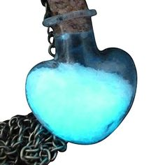 Nice Steampunk Necklace Magic Fire Fairy Angel Dust