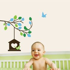 Upgrade your space with Studio Luka Lovely Nature Wall Decal that brings nature inside, Perfect for kids rooms and play areas. Kids Room Wall Stickers, Bird Wall Decals, Nursery Wall Decals, Tree Wall Art, Sticker Design, Tree Branches, Room Inspiration, Wall Decor, Nurseries