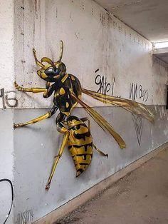 Anamorphic street art collaboration between Odeith and Roteweiller. 3d Street Art, Street Art London, Street Art Banksy, Murals Street Art, Street Artists, Airbrush Art, Graffiti Murals, Graffiti Artists, Graffiti Lettering
