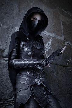 Skyrim - Nightingale by Carol Dark Fantasy Art, Fantasy Girl, Fantasy Inspiration, Character Inspiration, Fantasy Character Design, Character Art, Fantasy Characters, Female Characters, Elf Rogue