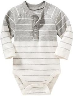 $10.94 Striped Henley Bodysuits for Baby