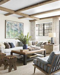 The ceiling in this beach room has us like  (: @karynmillet   Design: @joeyluke) #interiordesign #onstandsnow