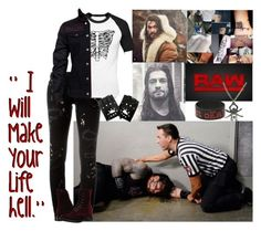 """""""🐺 Cassius Dark 🐺- Raw 🔴 Cassius Attacks Roman Backstage"""" by iron-maiden-amy ❤ liked on Polyvore featuring WWE, Hot Topic, Dsquared2, Frye, men's fashion, menswear and wweoc"""