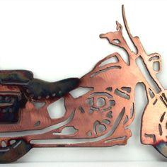 metal motorcycle wall art