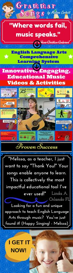 """This is perfect for teachers and parents!"" These catchy and fun lyrics and melodies make learning effortless for achieving life-long educational goals. I wrote these songs and created these activities to teach my students for life; therefore, I use an innovative method for reaching multiple learning styles. My music has reached and impacted every student that has been in my classroom. The inter-connectivity of my plan allows you to create an engaging and fun learning environment."