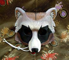 Tanuki Mask... hand made leather Tanuki mask by Merimask on Etsy, $165.00