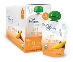 Plum Organics Just Fruit, Mangos, 3.17-Ounce Pouches (Pack of 12) $11.37