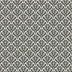 Black /& Ivory Spoons 7Gypsies 12 x 12 Scrapbook Paper