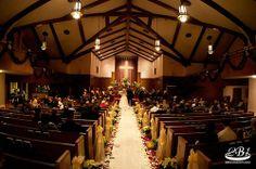 wedding ceremony. Church wedding ceremony. Church aisle runner.