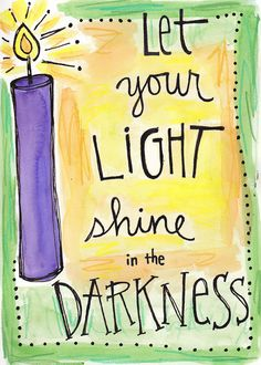Bible Verse Let your Light Shine Firecracker Illustrated Watercolor Print