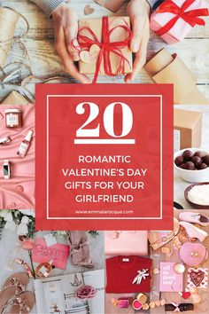 "Romanic Valentine's Day gifts for your girlfriend! Find creative, romantic, and unique Valentine's gifts that will tell your girlfriend ""I love you."" Cute and DIY ideas like flowers, teddy bears, and crafts. Get your girlfriend the perfect Valentine's Day Gift! Find the perfect romantic Valentine's Day gifts for her and find creative and quirky Valentine's Day gifts! Cute ideas for girls, girlfriends, fiance, and wife! #valentinesday #girlfriend #gift"