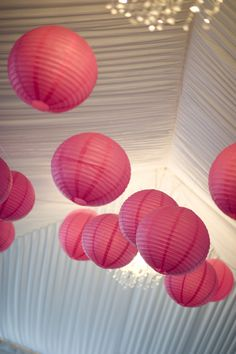 Hot Pink Wedding Lantern Decor