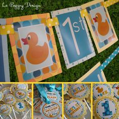 Rubber Duck Birthday Party Decorations idea... For Hollie! We could totally make these things for Alex's Birthday!!! :)