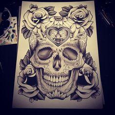 Dia de los Muertos tattoo design!