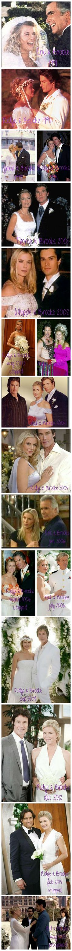 Brooke's weddings and 'almost-weddings'