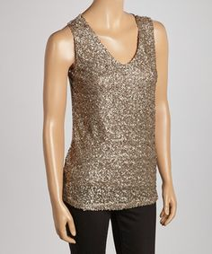 Look what I found on #zulily! Gray Sequin Sleeveless Top by Simply Irresistible #zulilyfinds
