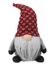 Another great find on #zulily! 10'' Red Heart Cap Gnome Plush Doll #zulilyfinds