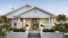 Embracing Modern Country Interior Design (and a Quieter Lifestyle) modern country interior design home hamptons style facade by metricon homes Facade Design, Exterior Design, House Design, Modern Country, Country Living, Modern Coastal, Coastal Style, Modern Farmhouse, Style At Home