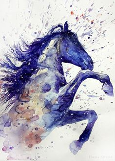 19 by ElenaShved.deviantart.com on @deviantART (Beautiful Blue Horse).