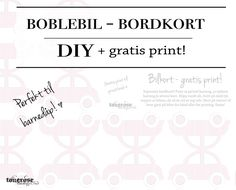Bordkort boblebil gratis print rosa blå dåp Free Printables, Templates, Math, Words, Stencils, Free Printable, Math Resources, Early Math, Western Food