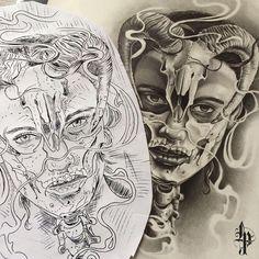 Good morning, today tattooed one of my designs!!!!😁#postiglioneluca #pencil #napolitattoo #teschio #mylife #heart #skull #panthera #bestart #insta_artgallery #instaart #tattooscketch #tattoolife #tattoo #geometricskull #art #Facebook #passion #love #tattoomachine #sullen #worldofpencils #napoli #particular #wtc136 #napolitattoo #sketchtattoo #woman