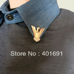 Gold&Silver Triangle Eagle Collar Tips Brooch Pins Men/Womens Fashion Jewlery Free Shipping 20 Pairs/lot-in Brooches from Jewelry on Aliexpr...