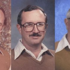 A Texas physical education teacher retires after wearing the same 1970s-era outfit in 40 consecutive yearbook photos.