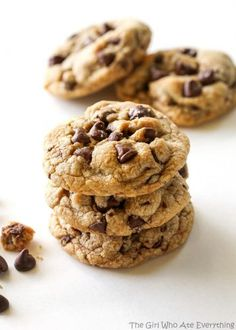 Salty Browned Butter Chocolate Chip Cookies - The Girl Who Ate Everything