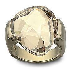Swarovski Jewelry:  Gold Plated, Helios Ring $140.00