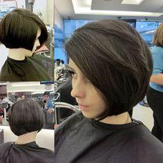 Uma inspiração para quem tem fios lisos e bastante cabelo. | 14 inspirações para…