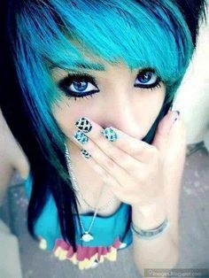 really cute scene girl - Google Search